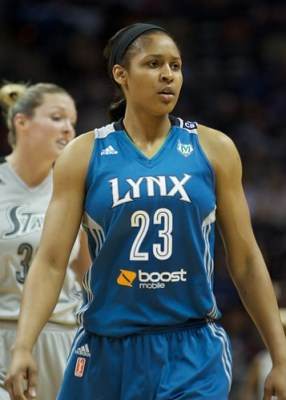 SAN ANTONIO (July 19, 2013) - The Minnesota Lynx defeated the San Antonio Silver Stars, 87-71. Photo © Robert Franklin, all rights reserved.