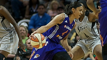 """Griner leads """"grind time"""" in San Antonio for Phoenix 83-77 victory in front of her friends and family"""