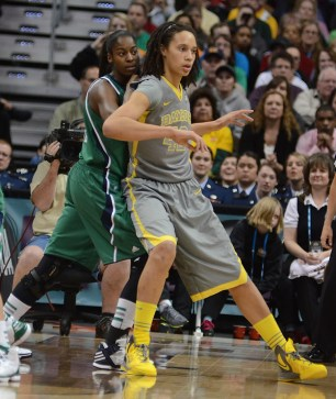 Devereaux Peters and Baylor's Brittney Griner. Photo Robert Franklin, All Rights Reserved.