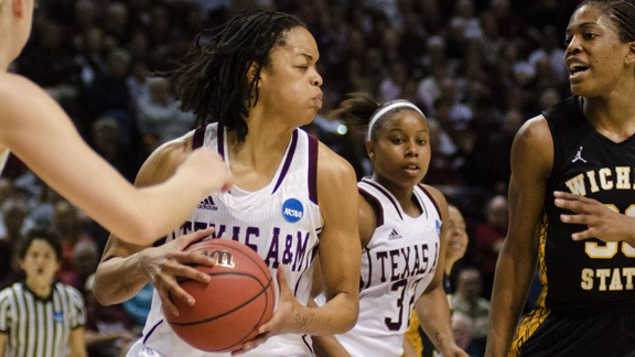 Bellock's career-high 18 leads Texas A&M past Wichita State 71-45 in first round of NCAA tourney