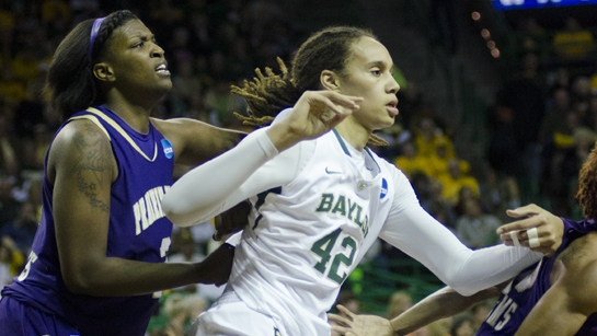 Brittney Griner slam dunks Baylor into the second round of the NCAA tournament, Lady Bears rout Prairie View