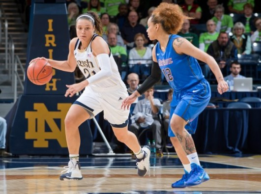 Kayla McBride. Photo:  Matt Cashore-USA TODAY Sports.