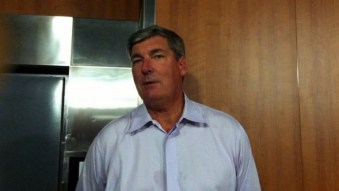 LOS ANGELES (July 23, 2014) - New York Liberty coach Bill Laimbeer talks to media postgame.