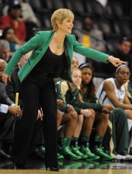 Oklahoma City, OK (March 31, 2013) - Baylor coach Kim Mulkey. Fifth-seeded Louisville defeated No. 1 Baylor in the Sweet 16 of the NCAA tournament, 82-81.