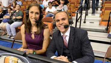 Rebecca Lobo and Ryan Ruocco. Photo: ESPN.
