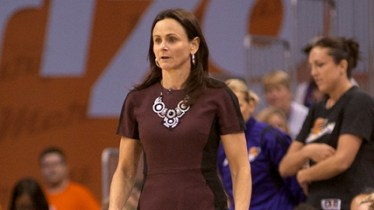 PHOENIX, Ariz. (Sept. 7, 2014) - Phoenix Mercury head coach Sandy Brondello during game one of the 2014 WNBA Finals. Photo: Robert Franklin, all rights reserved.