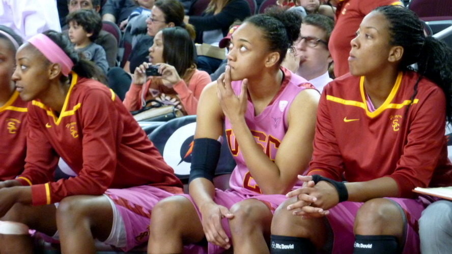 USC comes out on top against crosstown rival UCLA, 66-54, McGee sisters honored