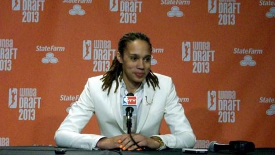 Brittney Griner at the 2013 WNBA Draft.