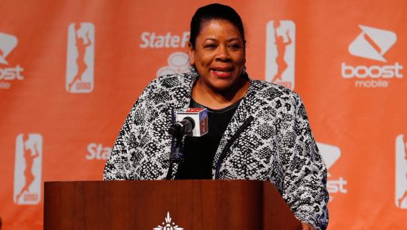 WNBA President Laurel Richie.