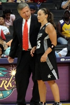 LOS ANGELES (July 6, 2013) - Becky Hammon before her injury during the Silver Stars game at the Los Angeles Sparks. Photo © Linda Estep.