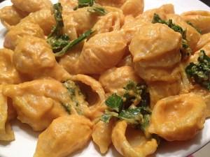 Vegan cheesy shells. Photo: LawsOnWellness.com