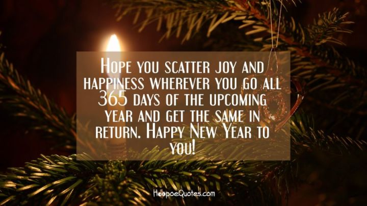 Hope you scatter joy and happiness wherever you go all 365 days of     Hope you scatter joy and happiness wherever you go all 365 days of the  upcoming year