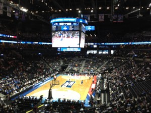 The Barclays Center during the thriller between Iowa and Temple (Ray Floriani photo)