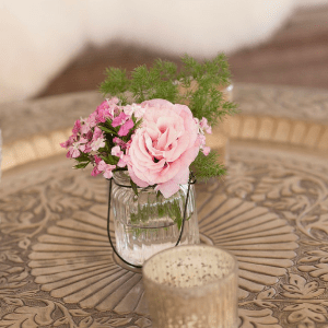 Glass Vase with Wire Hanger