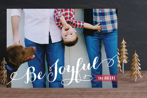 Joyful Script Holiday Card