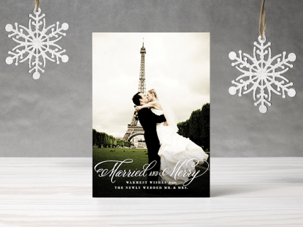 Married and Merry Newlywed Card
