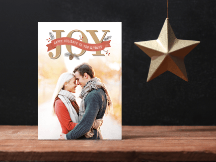Rustic Joy Holiday Card