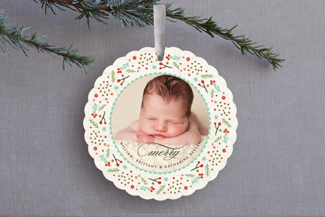 Woodland Wreath Ornament Card