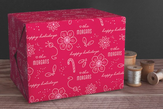 Holiday Line Art Wrapping Paper