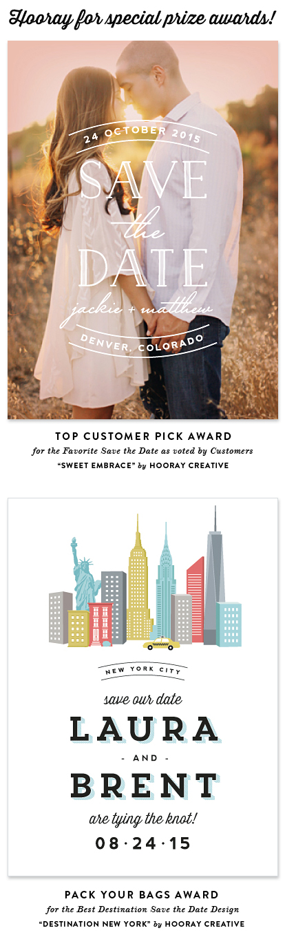 award-winning save the date designs