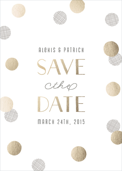 save the date cards - Sparkling Confetti