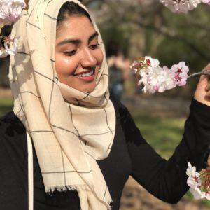 Hooriyah Collection's Plaid 100% Viscose Hijab Wrap