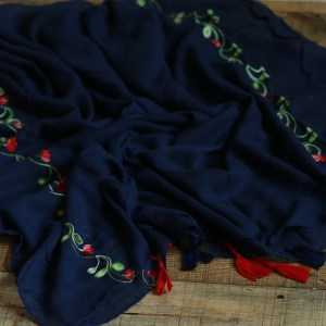 Hooriyah Collection's embroidered cotton viscose Hijab