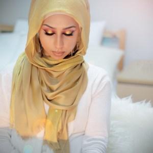 Hooriyah Collection's shiny fancy wear viscose hijab wrap