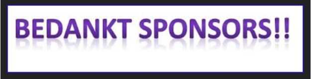 sponsors bedankt