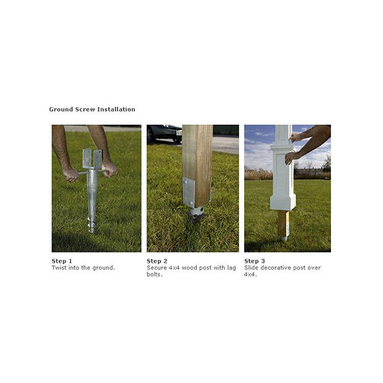 Mayne Ground Screw Mailbox Mount Hoover Fence Co
