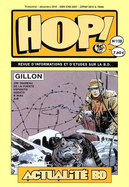 Couverture Hop ! N°128 spécial Gillon - hop-bd.fr