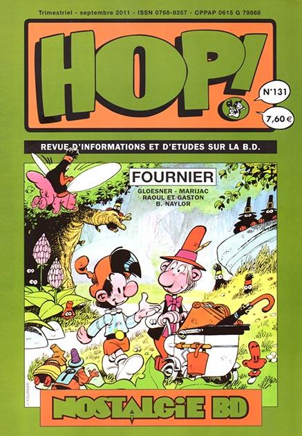 Couverture Hop ! N°131 spécial Fournier - hop-bd.fr