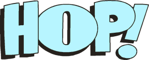Logo HOP! bleu clair