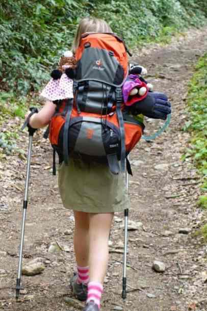 Paige hiking