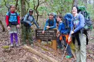 Kids at finish of Foothills Trail