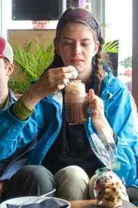 Kyla and hot chocolate