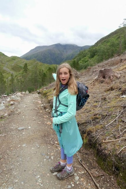 Paige with Ben Nevis
