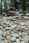 The ever growing rock cairn on LeConte's summit