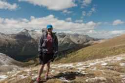 Nancy at the top of Buckskin Pass