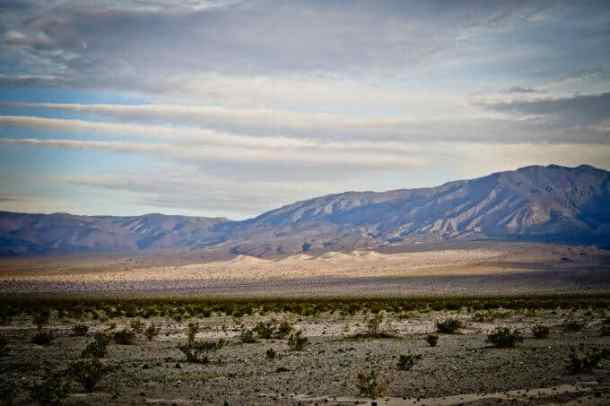 Panamint Dunes in the distance from our campground