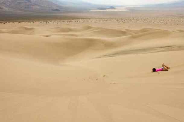 Paige sand sledding
