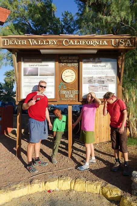 Death Valley sign