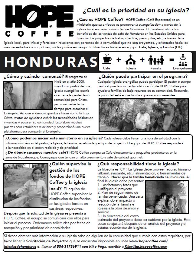 HOPE Coffee de Honduras