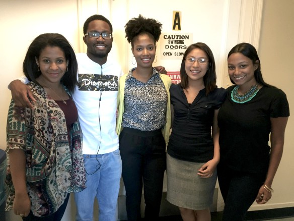 2015 Hope Fund Fellows (from left to right): Semhal Gessesse, Kareem Watson, Rahilou Diallo, Arianna Flores Perez, and Chenisvel Nunez