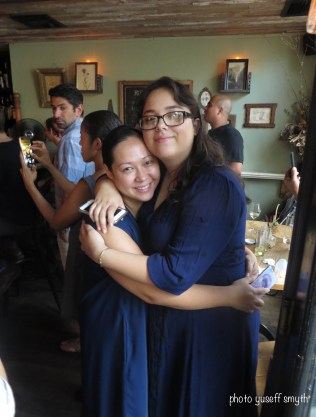 Kayla and her mother celebrate her accomplishments at the 2016 closing brunch