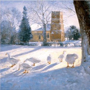 Geese Christmas card for Mobile Chemotherapy Unit Charity project