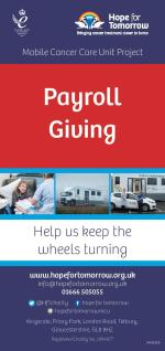 Image for 'Payroll Giving' leaflet