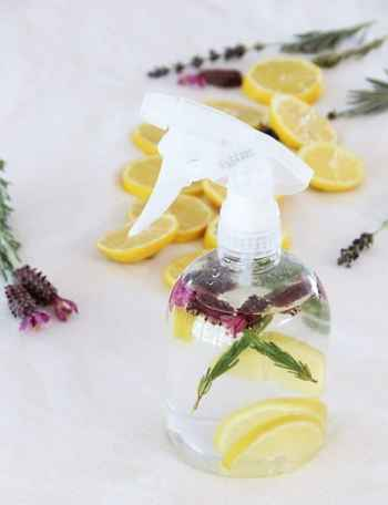 DIY natural lavender lemon all-purpose cleaner