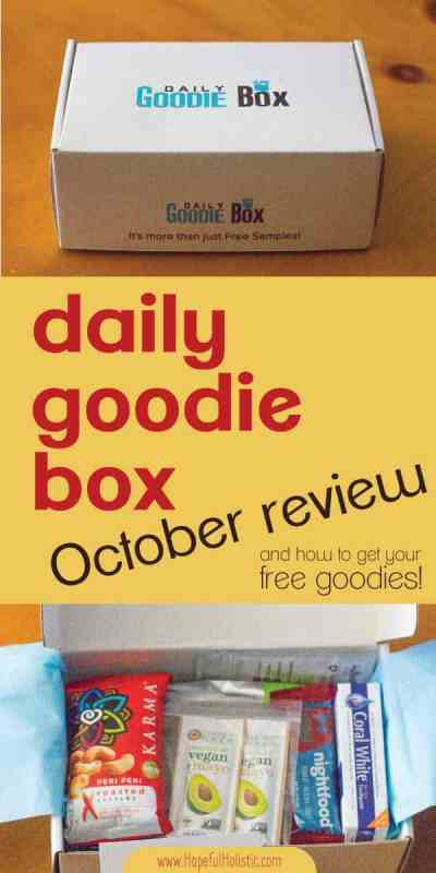 Daily Goodie Box opened with text overlay- daily goodie box october review and how to get your free goodies!