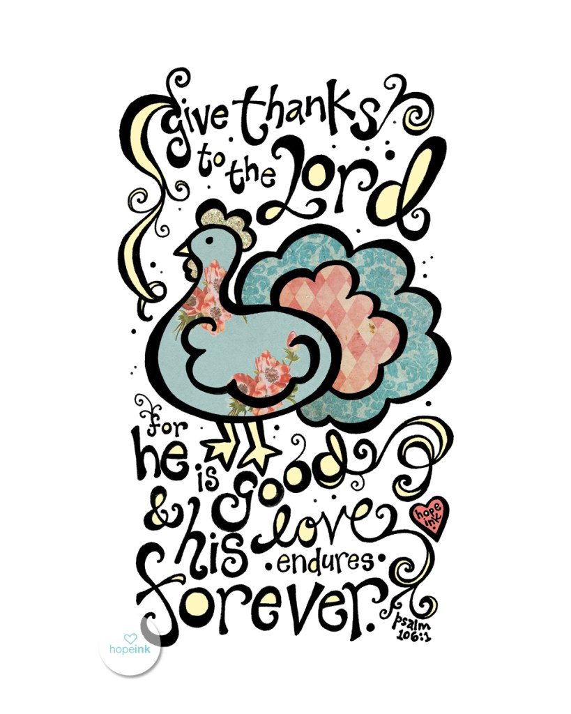 Thanksgiving Scripture Art Hand Lettering coloring printable